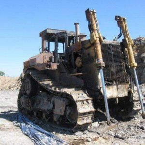 Fire Damaged CAT Dozer Sold for $205,580